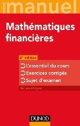Dernières parutions dans Mini manuel, Mathématiques financières