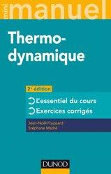 Dernières parutions dans Mini manuel, Thermodynamique
