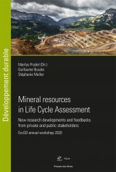 Nouvelle édition Mineral resources in Life Cycle Assessment