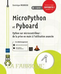 Dernières parutions sur Techniques de programmation, MicroPython et Pyboard