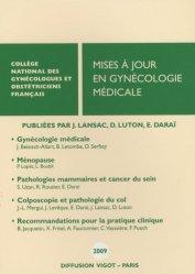 Dernières parutions dans Mises à jour, Mises à jour en gynécologie médicale 2009