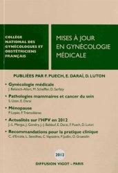 Nouvelle édition Mises à jour en gynécologie médicale 2012