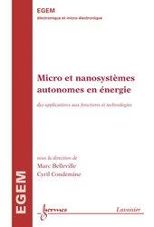 Dernières parutions dans EGEM, Micro et nanosystèmes autonomes en énergie