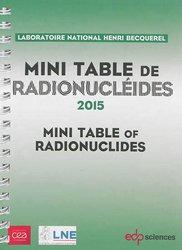 Dernières parutions sur Imagerie dentaire, Mini-table de radionucléides