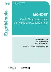 Dernières parutions dans Ergothérapies, MOHOST
