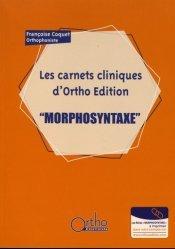 Dernières parutions sur Orthophonie, Morphosyntaxe