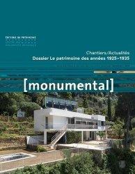Nouvelle édition Monumental Semestriel 2, décembre 2018 : Le patrimoine des années 1925-1935