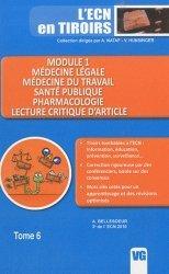 Dernières parutions dans L'ECN en tiroirs, Module 1 - Médecine légale - Médecine du travail - Santé publique - Pharmacologie - Lecture critique d'article