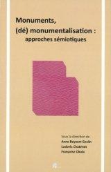 Dernières parutions sur Essais, Monuments, (dé)monumentalisation : approches sémiotiques