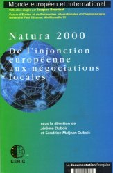 Dernières parutions dans Monde européen et international, Natura 2000. De l'injonction européenne aux négociations locales