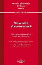 Dernières parutions dans Nouvelle Bibliothèque Thèses, Nationalité et souveraineté