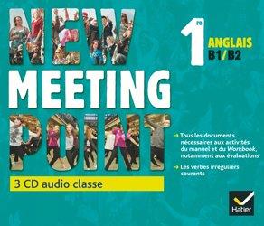 Dernières parutions dans Meeting Point, New Meeting Point Anglais 1re : 3 CD Audio-Classe