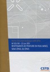 Dernières parutions sur Normes du bâtiment, NF DTU 59.1 Revêtements de peinture en feuil mince, semi-épais, ou épais