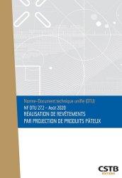 Dernières parutions dans DTU, NF DTU 27.2 Réalisation de revêtements par projection de produits pâteux