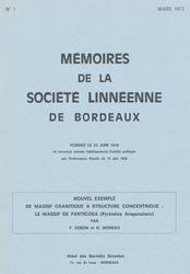 Dernières parutions dans Mémoires de la Société Linnéenne de Bordeaux, Nouvel exemple de massif granitique à structure concentrique : le massif de Panticosa