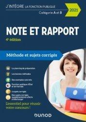 Dernières parutions dans J'intègre la Fonction Publique, Note et Rapport
