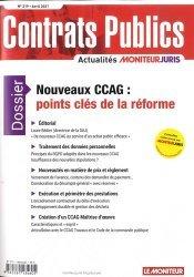 Dernières parutions sur Marchés publics, Nouveaux CCAG : points clés de la réforme