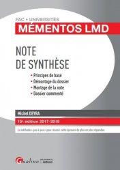 Dernières parutions dans Fac Universités : Mémentos LMD, Note de synthèse. Edition 2017-2018