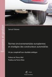 Dernières parutions dans Économie et gestion, Normes environnementales européennes et stratégies des constructeurs automobiles
