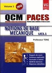Dernières parutions sur QCM POUR L'UE3, Notion de base mécanique UE 3.1- Vol 3
