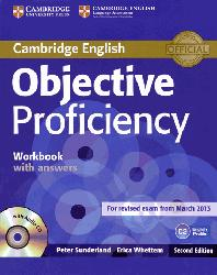 Dernières parutions sur CPE, Objective Proficiency - Workbook with Answers with Audio CD