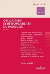 Dernières parutions dans Dalloz Action, Obligations et responsabilités du banquier. Edition 2018-2019