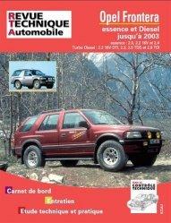 Dernières parutions dans Revue technique automobile, Opel Frontera essence et diesel