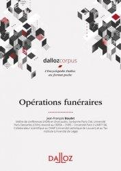Dernières parutions sur Collectivités locales, Opérations funéraires. Edition 2020