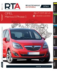 Dernières parutions dans Revue technique automobile, Opel Meriva YII 1.7 CDTI 110CHY(9/10 A12/13)
