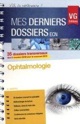 Dernières parutions dans Mes derniers dossiers ECN, Ophtalmologie