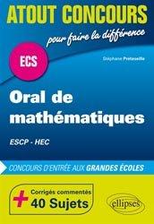 Dernières parutions dans Atout Concours, Oral de mathématiques ECS