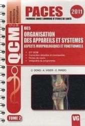Souvent acheté avec QCM illustrés d'anatomie, le Organisation des appareils et systèmes UE5 Tome 22011