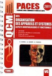 Souvent acheté avec L'anatomie en 1001 QCM  UE5, le Organisation des appareils et systèmes  UE5  Tome 12011