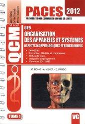 Dernières parutions dans QCM PACES, Organisation des appareils et systèmes  UE5  Tome 12012