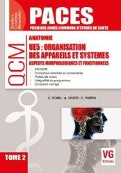 Dernières parutions dans QCM PACES, Organisation des appareils et systèmes UE5 Tome 2