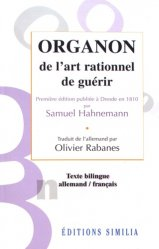 Organon de l'art rationnel de guérir