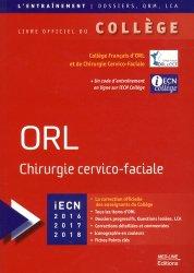 Souvent acheté avec Douleur Soins palliatifs et accompagnement, le ORL Chirurgie cervico-faciale