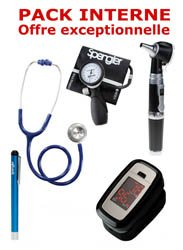 Dernières parutions dans Pack, PACK INTERNE - Tensiomètre manopoire SPENGLER Lian Nano - Stéthoscope Magister - Otoscope Spengler SMARTLED à LED et fibre optique - OXYSTART - Oxymètre de pouls - Lampe stylo à LED Litestick Spengler  - BLEU MARINE