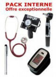 Dernières parutions dans Pack, PACK INTERNE - Tensiomètre manopoire SPENGLER Lian Nano - Stéthoscope Magister - Otoscope Spengler SMARTLED à LED et fibre optique - OXYSTART Oxymètre de pouls - Lampe stylo à LED Litestick Spengler  - ROUGE
