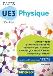 Souvent acheté avec UE1 - La chimie en PACES - Rappels de cours et QCM type concours, le PACES UE3 Physique