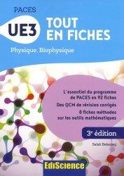 Souvent acheté avec UE1 - La chimie en PACES - Rappels de cours et QCM type concours, le PACES UE3 Tout en fiches