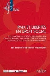 Dernières parutions sur Droit des obligations, Paix et libertés en droit social