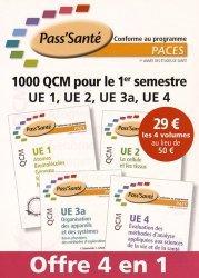 Souvent acheté avec Mémo-fiches concours Kiné pack 2 volumes, le PACK 1000 QCM pour le 1er emestre UE1, UE 2, UE 3a, UE 4