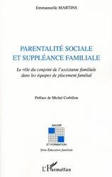 Dernières parutions dans Savoir et formation, Parentalité sociale et suppléance familiale