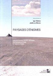Dernières parutions sur Paysages, Paysages d'énigmes