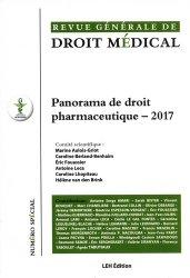 Nouvelle édition Panorama de droit pharmaceutique - 2017