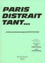 Dernières parutions dans Les Cahiers, Paris distrait tant ...