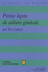 Dernières parutions dans Major, Petites leçons de culture générale