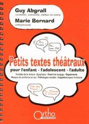 Souvent acheté avec Tests d'expression morpho-syntaxique fine T.E.M.F, le Petits textes théâtraux pour l'enfant, l'adolescent, l'adulte