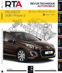 Dernières parutions dans Revue technique automobile, Peugeot 308I Ph.2 -1.6 e-HDI 112et115ch (depuis 04/11)